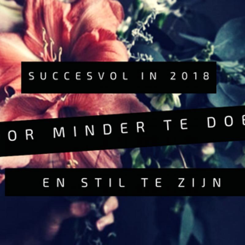 Succes in 2018 door minder te doen en stil te zijn